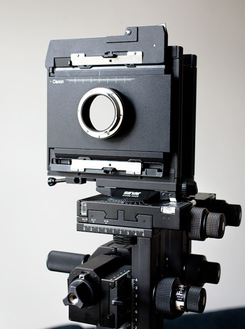 Sinar P2 with the graflock to EOS adapter